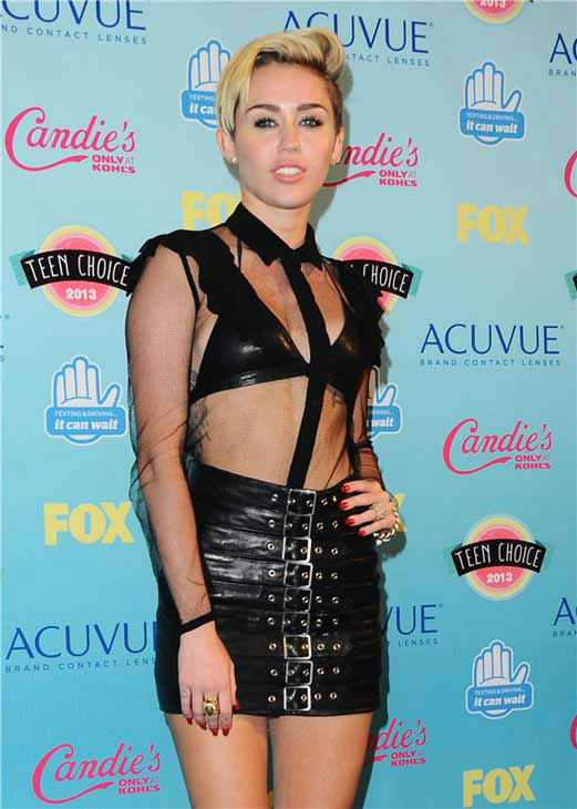 "<div class=""meta image-caption""><div class=""origin-logo origin-image ""><span></span></div><span class=""caption-text"">Miley Cyrus appears at the 2013 Teen Choice Awards in Los Angeles, California on Aug. 11, 2013.  (Kyle Rover / startraksphoto.com)</span></div>"