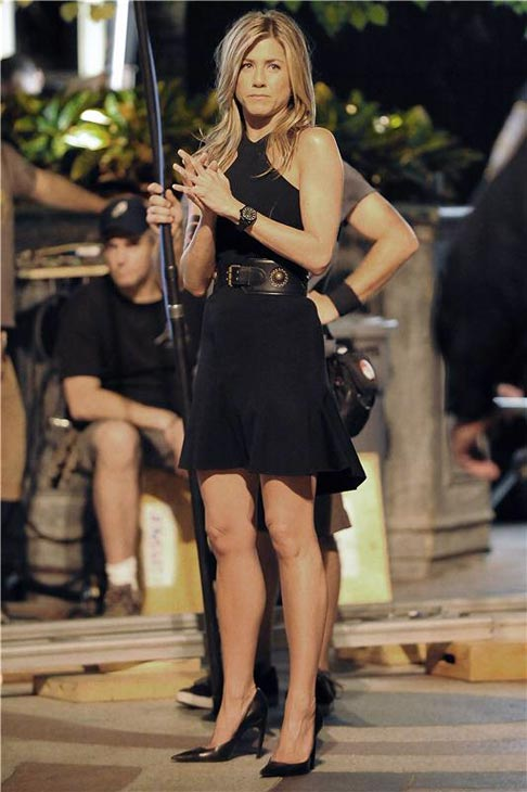 Jennifer Aniston appears on the set of &#39;30 Rock&#39; on Sept. 3, 2008. <span class=meta>(Humberto Carreno&#47;startraksphoto.com)</span>