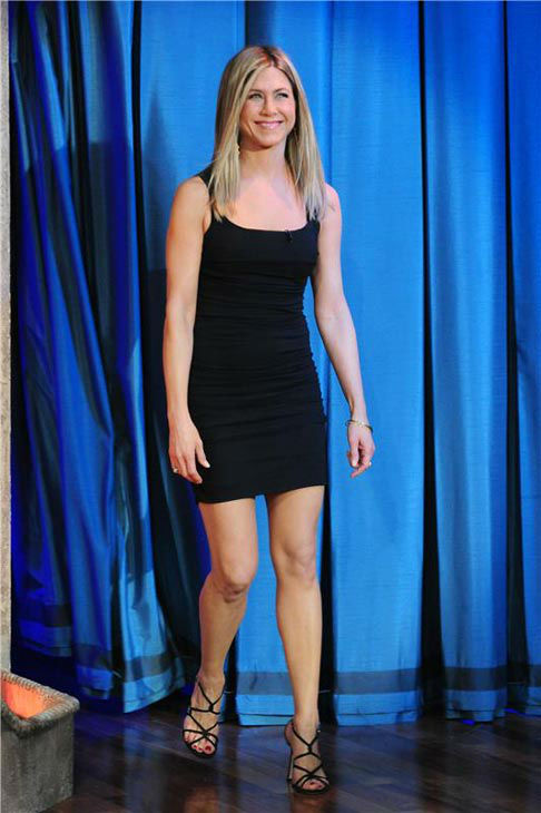 Jennifer Aniston appears on &#39;Late Night with Jimmy Fallon&#39; in New York City on Feb. 10, 2011. <span class=meta>(Albert Michael&#47;startraksphoto.com)</span>