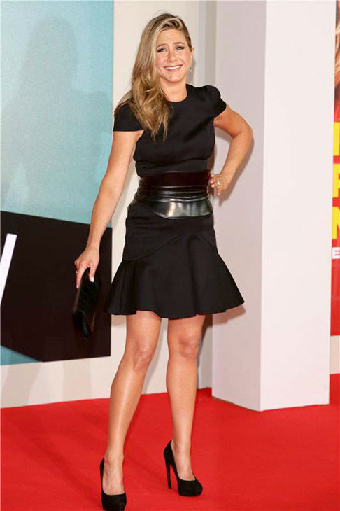 Jennifer Aniston appears at the Berlin premiere of 'We're The Millers' on Aug. 15, 2013.