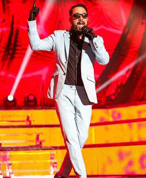 AJ McLean performs with the Backstreet Boys on their 'In a World Like This Tour' in Raleigh, North Carolina.