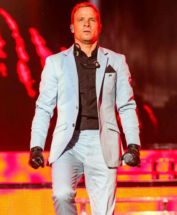 "<div class=""meta ""><span class=""caption-text "">Brian Littrell performs with the Backstreet Boys on their 'In a World Like This Tour' in Raleigh, North Carolina. (Andy Martin Jr. / startraksphoto.com)</span></div>"