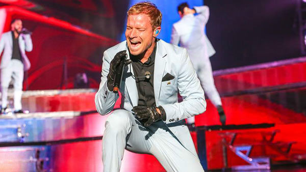 Brian Littrell performs with the Backstreet Boys on their 'In a World Like This Tour' in Raleigh, North Carolina.