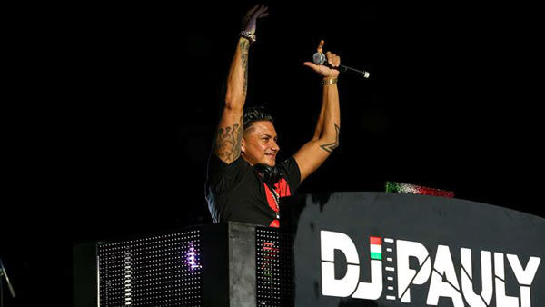 Former 'Jersey Shore' star DJ Pauly D opens for the Backstreet Boys on their 'In a World Like This Tour' in Raleigh, North Carolina.