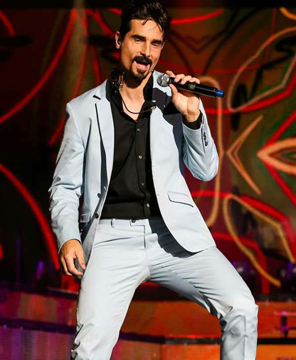 "<div class=""meta ""><span class=""caption-text "">Kevin Richardson performs with the Backstreet Boys on their 'In a World Like This Tour' in Raleigh, North Carolina. (Andy Martin Jr. / startraksphoto.com)</span></div>"