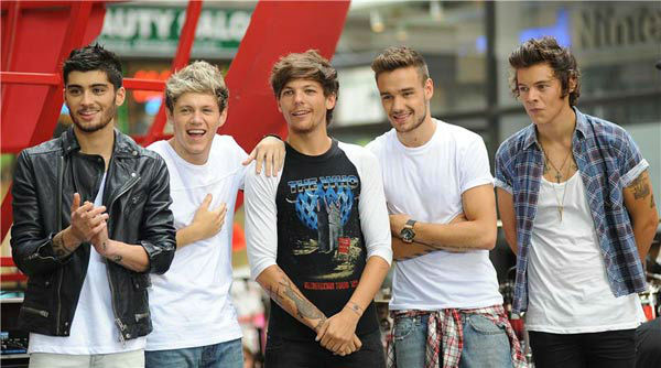 Zayn Malik, Louis Tomlinson, Harry Styles, Liam Payne, Niall Horan of One Direction appear during their performance on the &#39;Today&#39; show on Aug. 23, 2013. <span class=meta>(Humberto Carreno&#47;startraksphoto.com)</span>