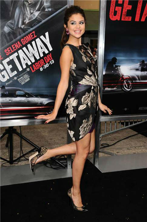 Selena Gomez appears at the premiere of her new action film &#39;Getaway&#39; at the Regency Village Theater in Westwood, California on Aug. 26, 2013. <span class=meta>(Sara De Boer &#47; startraksphoto.com)</span>