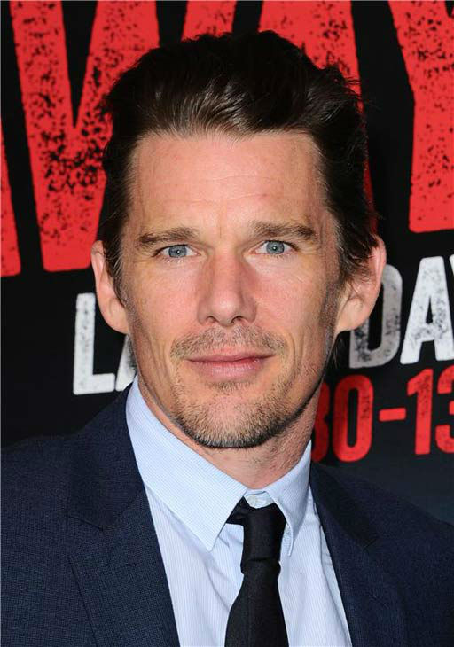 Ethan Hawke appears at the premiere of his new action film 'Getaway' at the Regency Village Theater in Westwood, California on Aug. 26, 2013.
