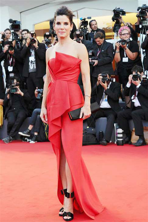 Sandra Bullock appears at the opening of the 70th annual Venice Film Festival and 'Gravity' premiere on Aug. 28, 2013.