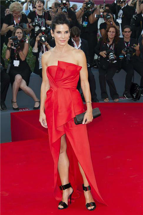 Sandra Bullock appears at the 'Gravity' premiere at the 70th Venice Film Festival on Aug. 28, 2013.