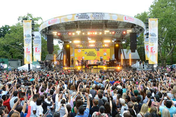 Alicia Keys wraps up the 'GMA Summer Concert Series' in front of a huge crowd in New York's Central Park on A