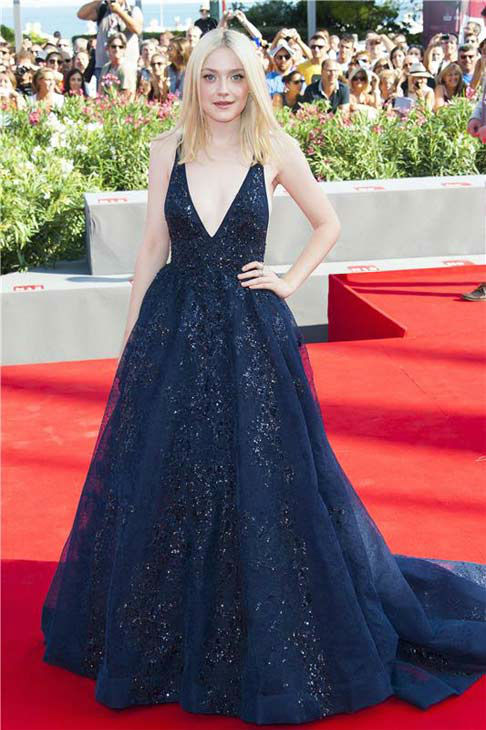 Dakota Fanning appears at the premiere of 'Night Moves' during the 70th Venice Film Festival on Aug. 31, 2013.