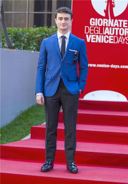 Daniel Radcliffe appears at the 'Kill Your Darlings' premiere at the 70th Venice Film Festival on Sept. 1, 2013.