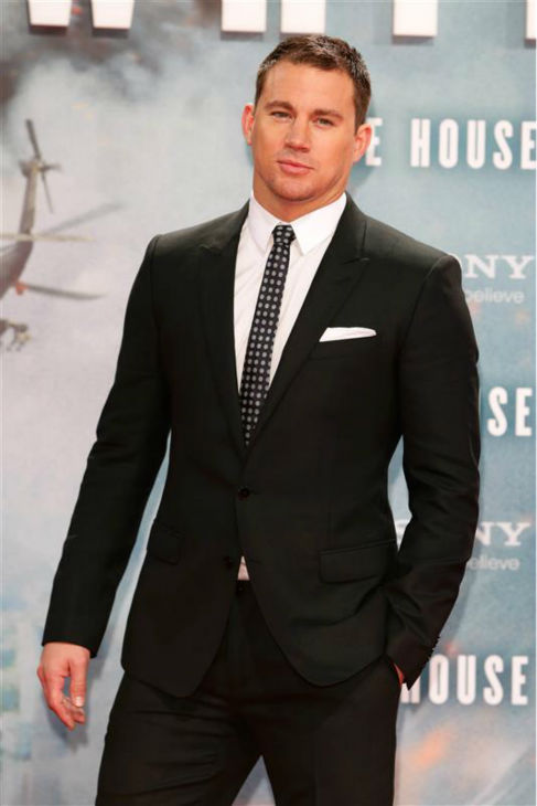 The &#39;Wish-That-Was-Button-Candy&#39; stare: Channing Tatum appears at the premiere of &#39;White House Down&#39; in Berlin, Germany on Sept. 2, 2013. <span class=meta>(James Coldrey &#47; Startraksphoto.com)</span>