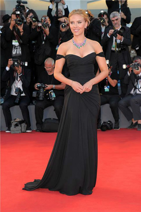 Scarlett Johansson appears at the premiere of 'Under The Skin' during 70th Venice Film Festival on Sept. 3, 2013.