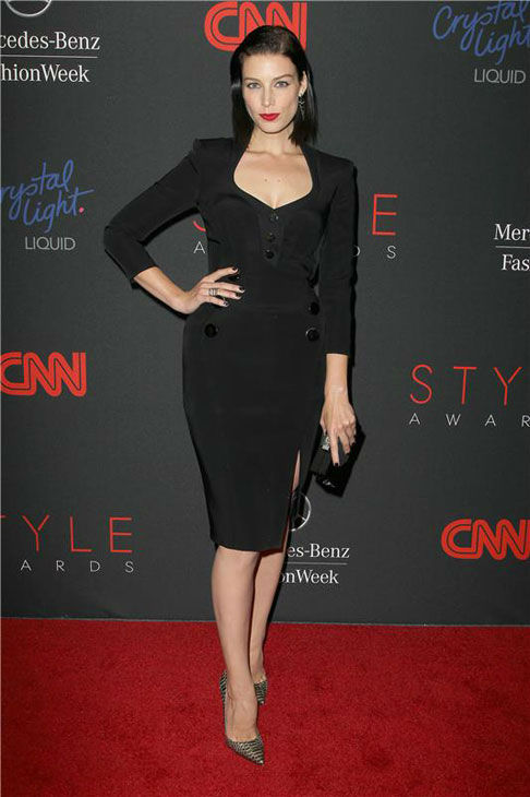 "<div class=""meta ""><span class=""caption-text "">Jessica Pare appears at the 10th Annual Style Awards Kick Off during Mercedes-Benz Fashion Week in New York City on Sept. 4, 2013. (Amanda Schwab/Startraksphoto.com)</span></div>"