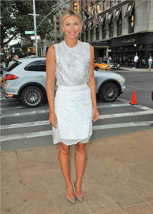 Maria Sharapova appears at the 10th Annual Style Awards Kick Off during Mercedes-Benz Fashion Week in New York City on Sept. 4, 2013. <span class=meta>(HUMBERTO CARRENO&#47;startraksphoto.com)</span>