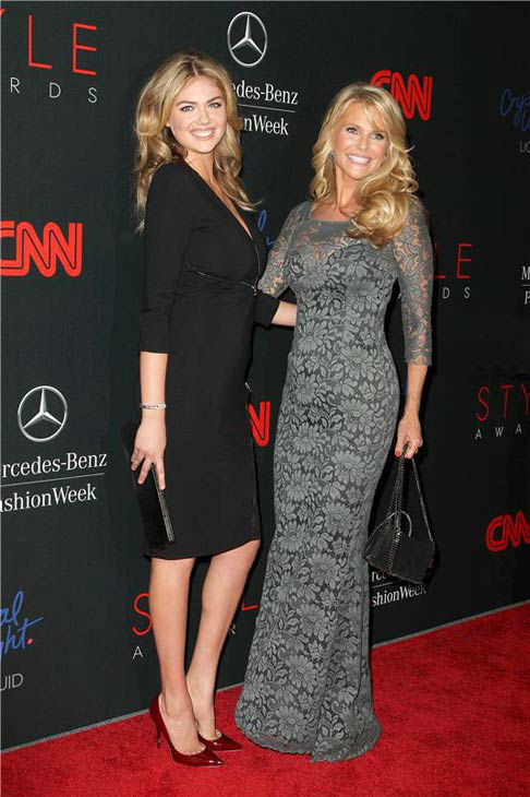 "<div class=""meta ""><span class=""caption-text "">Kate Upton and Christie Brinkley appear at the 10th Annual Style Awards Kick Off during Mercedes-Benz Fashion Week in New York City on Sept. 4, 2013. (Amanda Schwab/Startraksphoto.com)</span></div>"