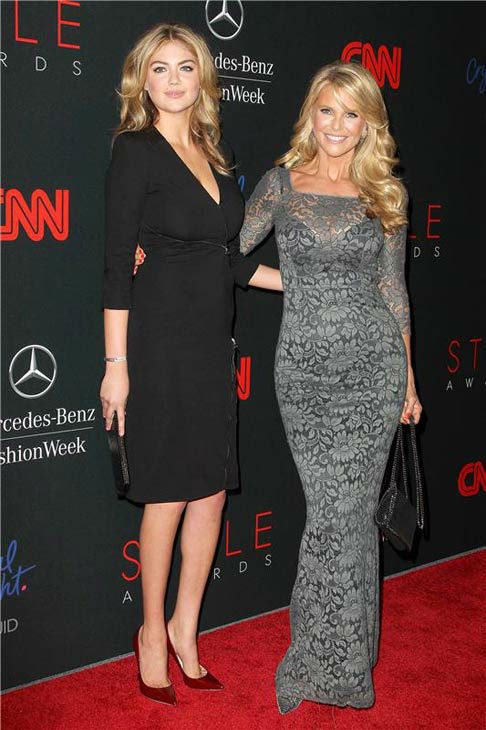 Kate Upton and Christie Brinkley appear at the 10th Annual Style Awards Kick Off during Mercedes-Benz Fashion Week in New York City on Sept. 4, 2013. <span class=meta>(Amanda Schwab&#47;Startraksphoto.com)</span>