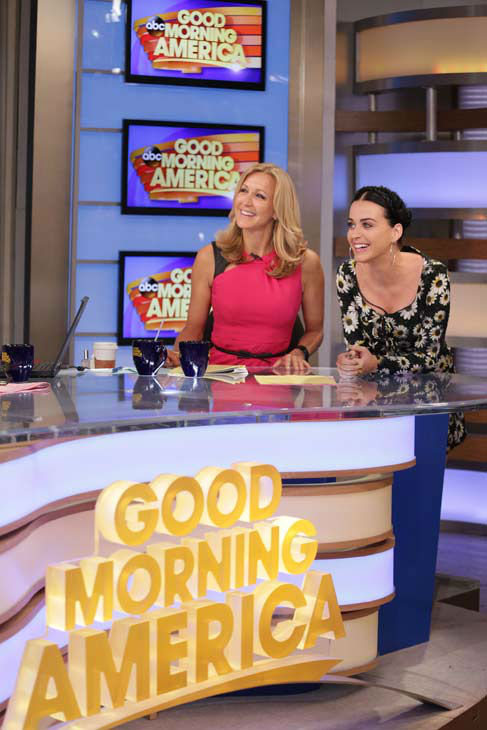 Katy Perry appears with &#39;Good Morning America&#39; co-host Lara Spencer on Sep.  6, 2013. <span class=meta>(ABC Photo&#47; Fred Lee)</span>
