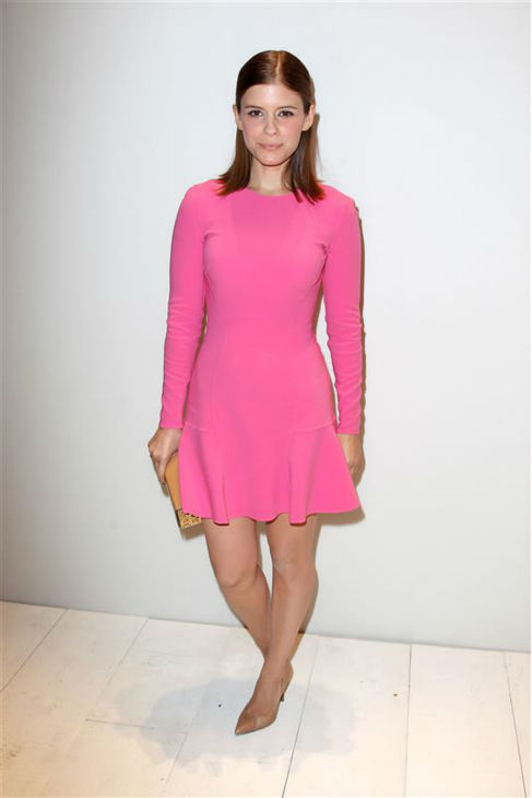 Kate Mara appears at the Michael Kors Spring 2014 show during Mercedes-Benz Fashion Week in New York on Sept. 11, 2013. <span class=meta>(Kristina Bumphrey &#47; Startraksphoto.com)</span>