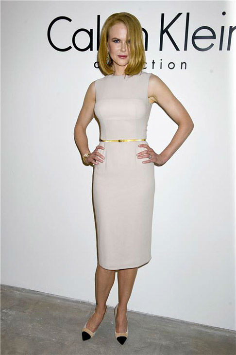 Nicole Kidman appears at the Spring 2014 Calvin Klein fashion show during New York Fashion Week on Sept. 12, 2013.