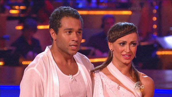 Corbin Bleu and Karina Smirnoff appear in a still from 'Dancing With The Stars: All-Stars' on Sept. 16, 2012.