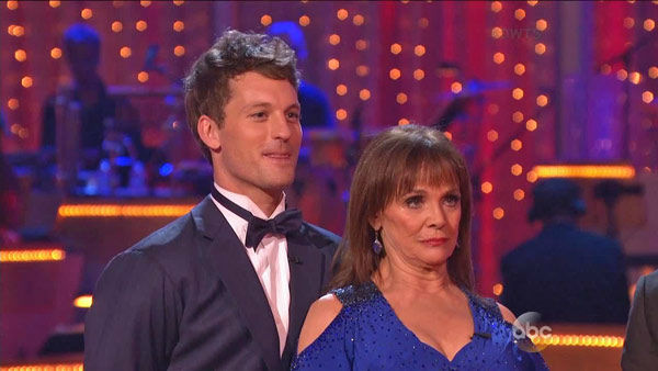 "<div class=""meta ""><span class=""caption-text "">Valerie Harper and Tristan MacManus danced the Foxtrot on week one of 'Dancing With The Stars' on Sept. 16, 2013. They received 21 out of 30 points from the judges. (ABC Photo)</span></div>"