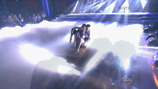 Christina Milian and Mark Ballas appear in a still from 'Dancing With The Stars: All-Stars' on Sept. 16, 2012.
