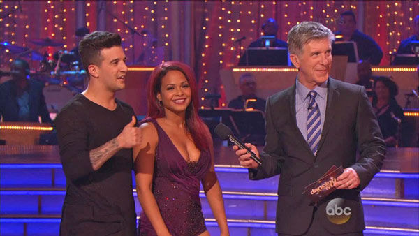 "<div class=""meta ""><span class=""caption-text "">Christina Milian and Mark Ballas danced the Contemporary on week one of 'Dancing With The Stars' on Sept. 16, 2013. They received 22 out of 30 points from the judges. (ABC Photo)</span></div>"