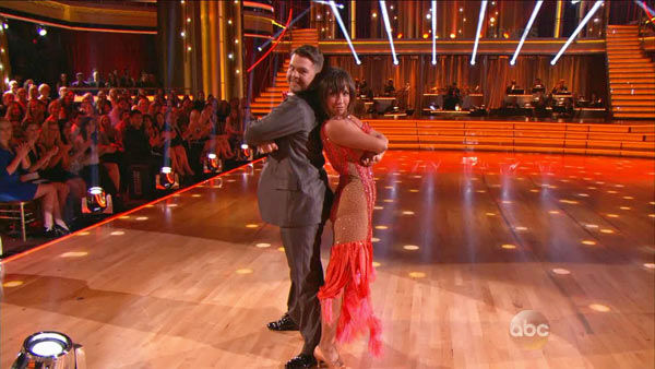 Jack Osbourne and Cheryl Burke dance the Foxtrot on week one of &#39;Dancing With The Stars&#39; on Sept. 16, 2013. They received 23 out of 30 points from the judges. <span class=meta>(ABC Photo)</span>
