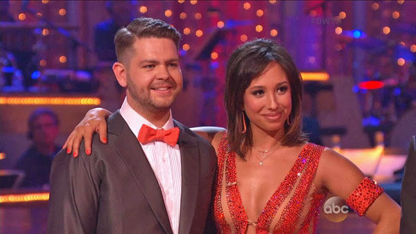Jack Osbourne and Cheryl Burke appear in a still from 'Dancing With The Stars: All-Stars' on Sept. 16, 2012.