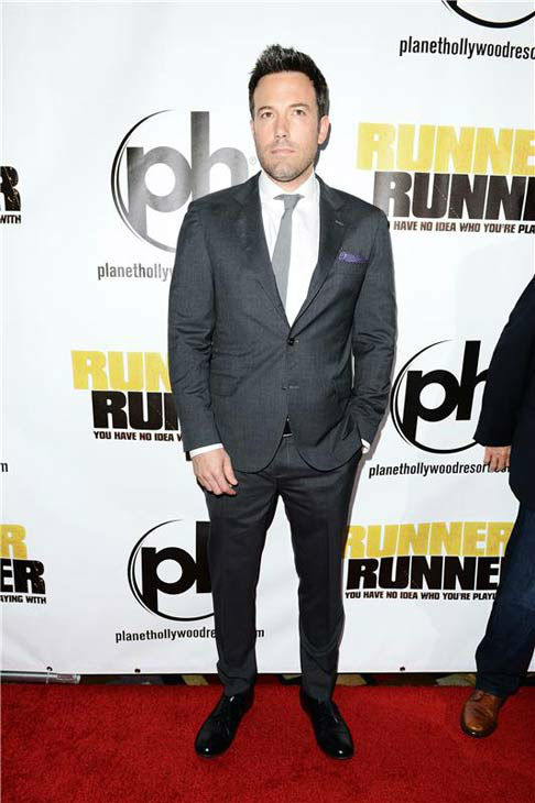 Ben Affleck appears at the premiere of 'Runner, Runner' at the Planet Hollywood Resort and Casino in Las Vegas, Nevada on Sept. 18, 2013.