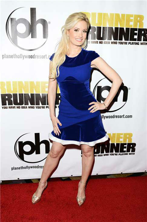 Holly Madison appears at the premiere of 'Runner, Runner' at the Planet Hollywood Resort and Casino in Las Vegas, Nevada on Sept. 18, 2013.