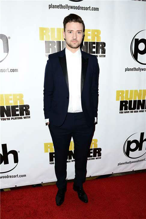 Justin Timberlake appears at the premiere of 'Runner, Runner' at the Planet Hollywood Resort and Casino in Las Vegas, Nevada on Sept. 18, 2013.
