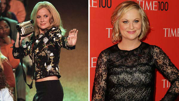 Amy Poehler played Mrs. George in &#39;Mean Girls,&#39; Regina&#39;s &#40;Rachel McAdams&#41; often inappropriate mom. Mrs. George often indulged in Regina and her friend&#39;s ways, mimicking the girls talent show rendition of &#39;Jingle Bell Rock&#39; in a memorable scene.  Poehler was a regular cast member alongside Tina Fey &#40;Mrs. Norbury&#41; on the popular NBC series &#39;Saturday Night Live.&#39; She has since gone onto star in numerous film roles, including &#39;Baby Mama&#39; and &#39;Blades of Glory&#39; and currently stars on the hit NBC sitcom &#39;Parks and Recreation.&#39; &#40;Pictured: Left -- Amy Poehler appears in a scene from &#39;Mean Girls.&#39; Right -- Amy Poehler appears at the 2013 TIME 100 Gala in New York City on April 23, 2013.&#41;  <span class=meta>(Paramount Pictures &#47; Amanda Schwab &#47; startraksphoto.com)</span>