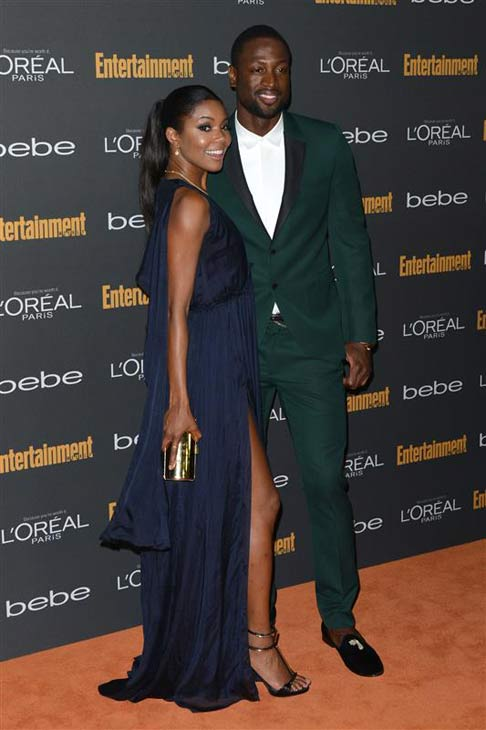 Gabrielle Union, known for her roles in &#39;Bring It On&#39; and &#39;Think Like a Man,&#39; announced on Saturday, Dec. 21, 2013 that she is engaged to Dwyane Wade, who plays for the Miami Heat basketball team. .  Union and Wade began dating in 2009. She shared a photo of her 8.5 carat cushion cut engagement ring by Jason of Beverly Hills on her official Instagram page -- check out the photo!  &#40;Pictured: Gabrielle Union and Dwyane Wade appear at the 2013 Entertainment Weekly Pre-Emmy Party on Sept. 20, 2013 in Los Angeles, California.&#41; <span class=meta>(Tony DiMaio &#47; startraksphoto.com)</span>