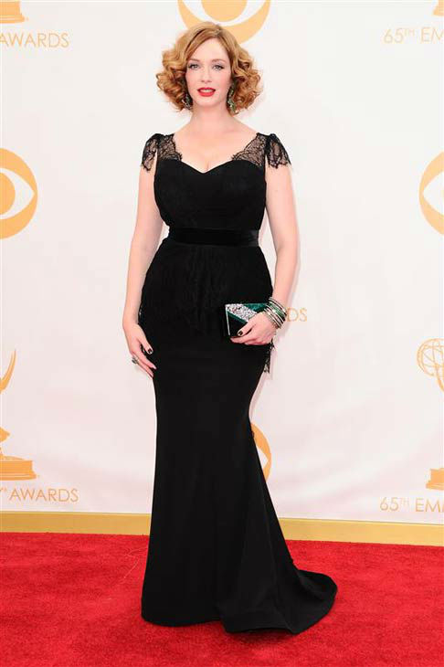 "<div class=""meta ""><span class=""caption-text "">Christina Hendricks appears at the 65th annual Primetime Emmy Awards in Los Angeles, California on Sept. 22, 2013.  (Kyle Rover / startraksphoto.com)</span></div>"