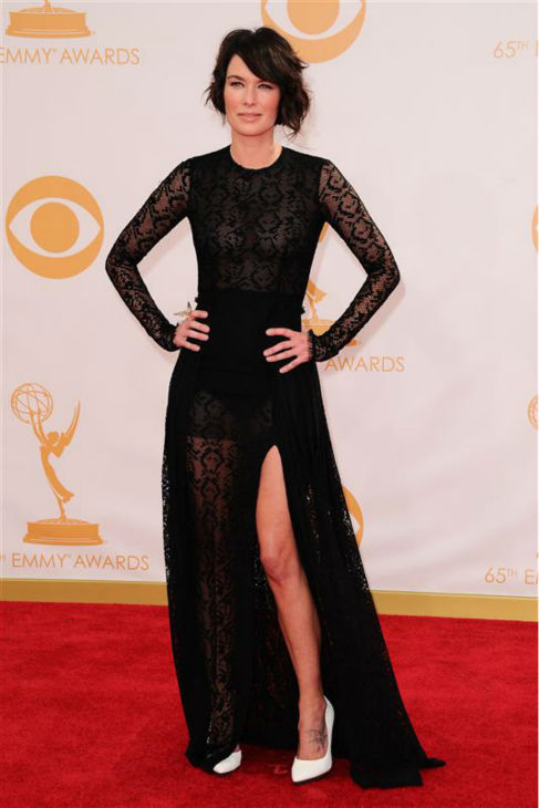 "<div class=""meta image-caption""><div class=""origin-logo origin-image ""><span></span></div><span class=""caption-text"">Lena Headey (Cersei Lannister on 'Game of Thrones') appears at the 2013 Emmy Awards in Los Angeles on Sept. 22, 2013.  (Kyle Rover / Startraksphoto.com)</span></div>"
