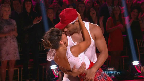 "<div class=""meta ""><span class=""caption-text "">Corbin Bleu and Karina Smirnoff dance the Jive on week two of 'Dancing With The Stars' on Sept. 23, 2013. They received 26 out of 30 points from the judges. (ABC Photo)</span></div>"