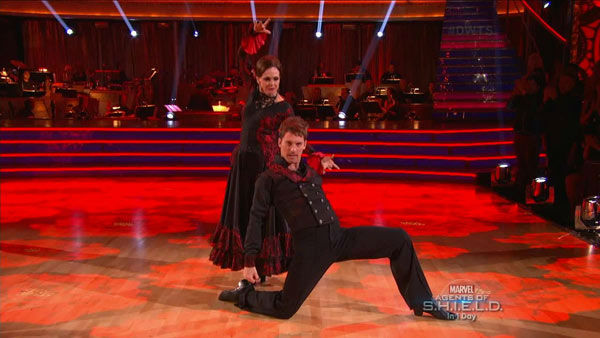 "<div class=""meta ""><span class=""caption-text "">Valerie Harper and Tristan MacManus dance the Paso Doble on week two of 'Dancing With The Stars' on Sept. 23, 2013. They received 19 out of 30 points from the judges. (ABC Photo)</span></div>"