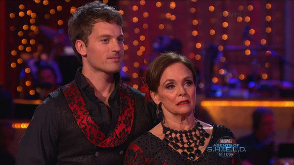 Valerie Harper and Tristan MacManus danced the Paso Doble on week two of &#39;Dancing With The Stars&#39; on Sept. 23, 2013. They received 19 out of 30 points from the judges. <span class=meta>(ABC Photo)</span>