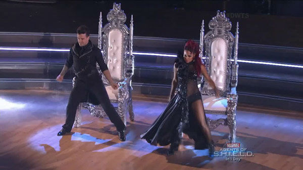 "<div class=""meta ""><span class=""caption-text "">Christina Milian and Mark Ballas dance the Paso Doble on week two of 'Dancing With The Stars' on Sept. 23, 2013. They received 25 out of 30 points from the judges. (ABC Photo)</span></div>"