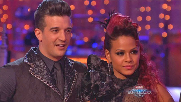 "<div class=""meta ""><span class=""caption-text "">Christina Milian and Mark Ballas danced the Paso Doble on week two of 'Dancing With The Stars' on Sept. 23, 2013. They received 25 out of 30 points from the judges. (ABC Photo)</span></div>"