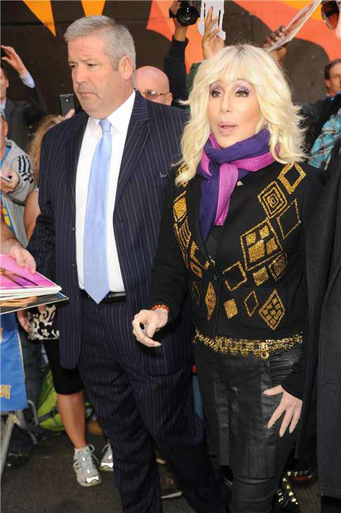 Cher sports a blonde hair &#39;do at a taping of &#39;The Late Show with David Letterman&#39; in New York City on Sept. 24, 2013. <span class=meta>(Bill Davila &#47; startraksphoto.com)</span>