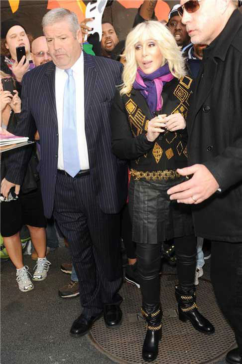 "<div class=""meta image-caption""><div class=""origin-logo origin-image ""><span></span></div><span class=""caption-text"">Cher sports a blonde hair 'do at a taping of 'The Late Show with David Letterman' in New York City on Sept. 24, 2013. (Bill Davila / startraksphoto.com)</span></div>"