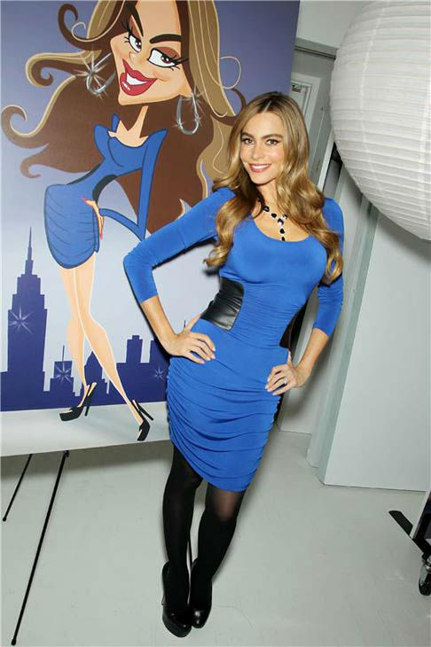 &#39;Modern Family&#39; star Sofia Vergara celebrates her new fall and holiday 2013 collections for Kmart in New York City on Sept. 25, 2013. <span class=meta>(Marion Curtis&#47;Startraksphoto.com)</span>