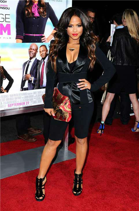 "<div class=""meta ""><span class=""caption-text "">Christina Milian appears at the Los Angeles, California premiere of 'Baggage Claim' on Sept. 25, 2013. (Sara De Boer / Startraksphoto.com)</span></div>"