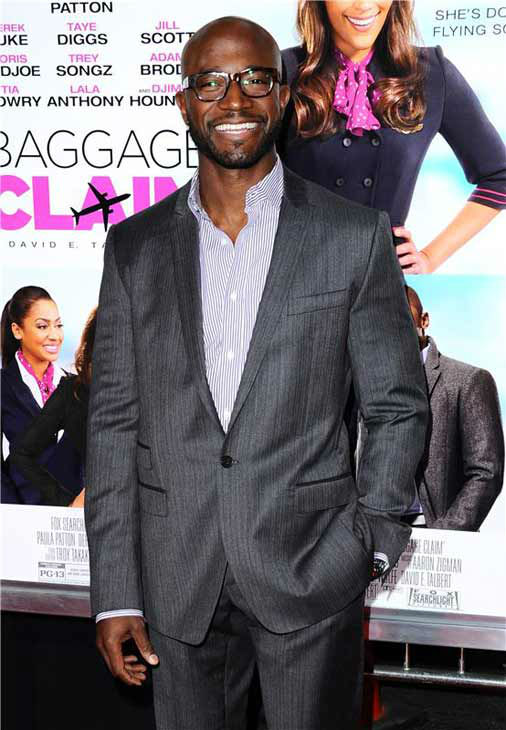 Taye Diggs appears at the Los Angeles, California premiere of &#39;Baggage Claim&#39; on Sept. 25, 2013. <span class=meta>(Sara De Boer &#47; Startraksphoto.com)</span>