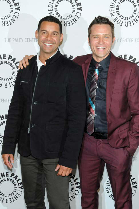 "<div class=""meta image-caption""><div class=""origin-logo origin-image ""><span></span></div><span class=""caption-text"">Jon Huertas and Seamus Dever appear at a 'Castle' event at the Paley Center in Los Angeles, California on Sept. 30, 2013. (Kevin Parry for Paley Center)</span></div>"